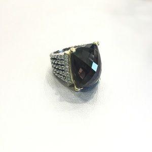 DAVID YURMAN WHEATON SMOKY QUARTZ  DIAMOND RING